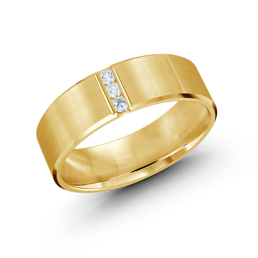 Yellow Gold Men's Ring Size 7mm (JMD-509-7Y10)