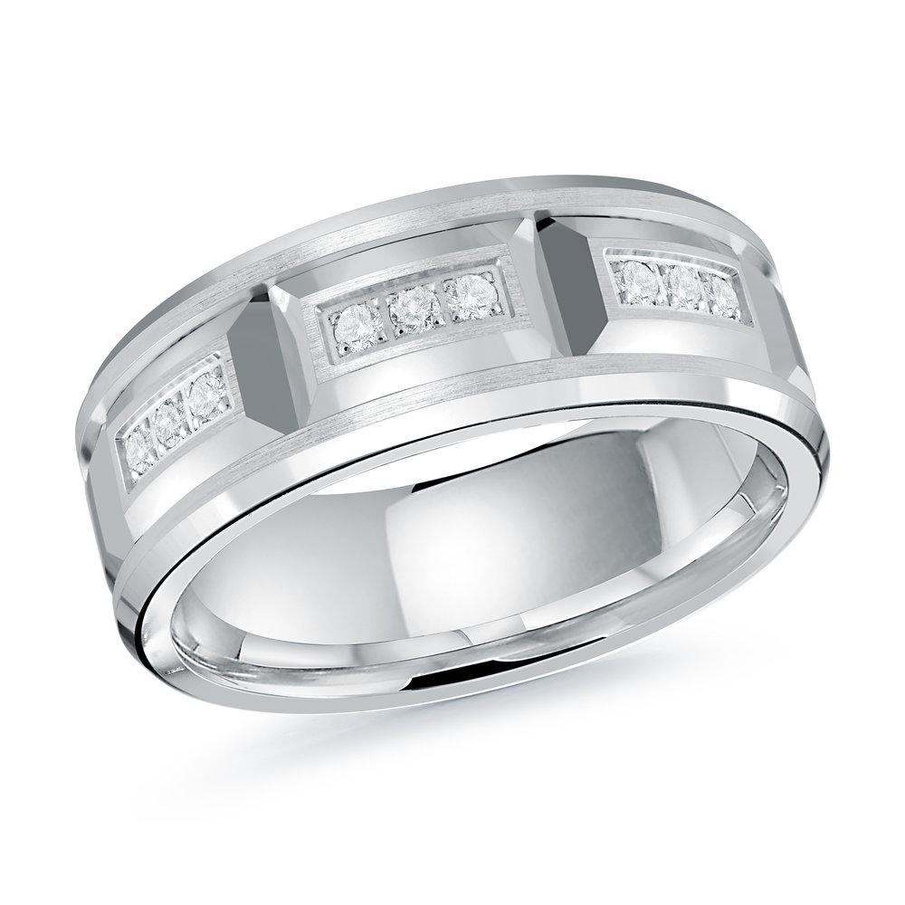 White Gold Men's Ring Size 8mm (JMD-1417-8W)